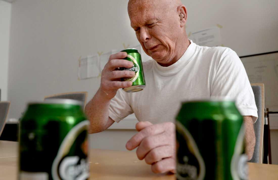 Erling Larsson med den stinkande ölen.