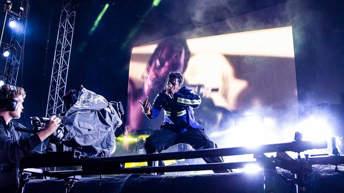 ASAp Rocky på festivalen Smash i Stockholm.
