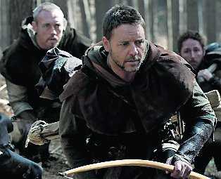 Russell Crowe som Robin Hood.