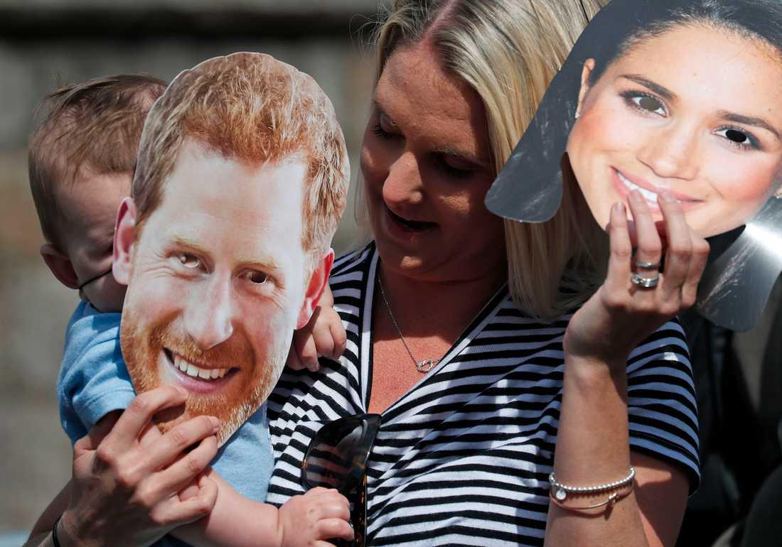 Kunglig yra vid Windsor, England inför bröllopet mellan prins Harry och Meghan Markle.