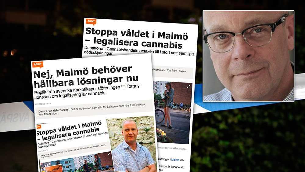 Ställ frågan till vilken initierad person som helst och du kommer få svaret att, med något undantag, kan de skjutningar och sprängningar som skett i Malmö härledas till cannabishandeln, skriver debattören.