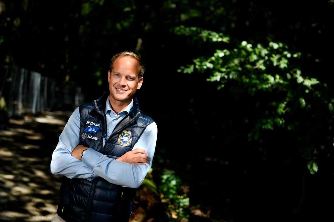 Hopplandslagets förbundskapten Henrik Ankarcrona.