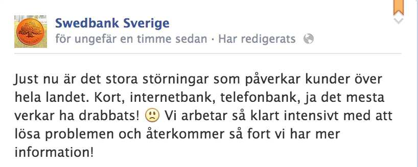 Från Swedbanks Facebooksida