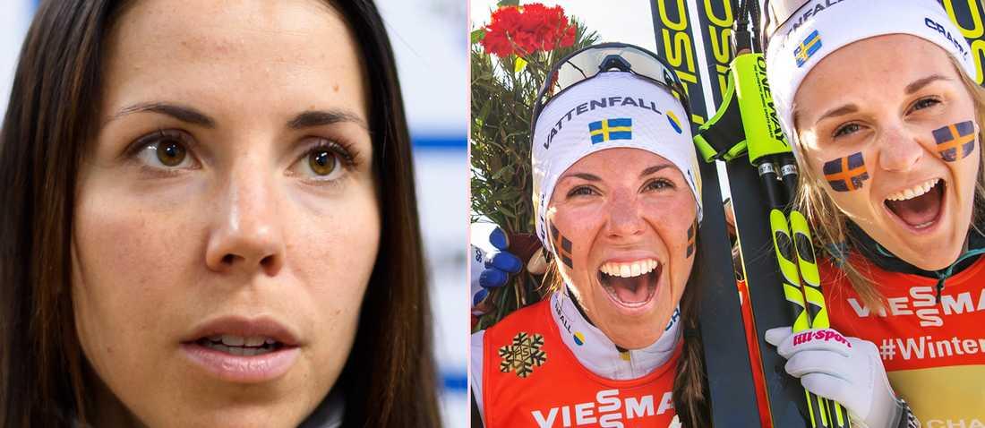 Charlotte Kalla och Stina Nilsson