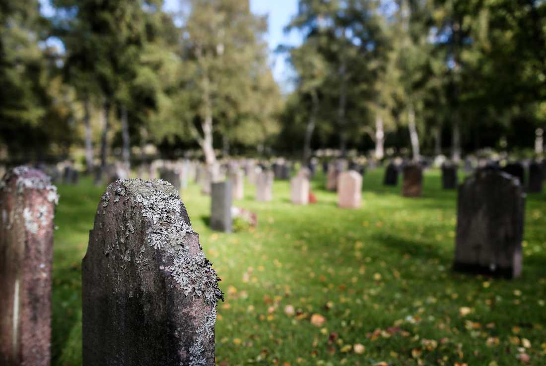 En nyligen begravd urna har grävts upp och stulits från Skogskyrkogården i Stockholm. Arkivbild.
