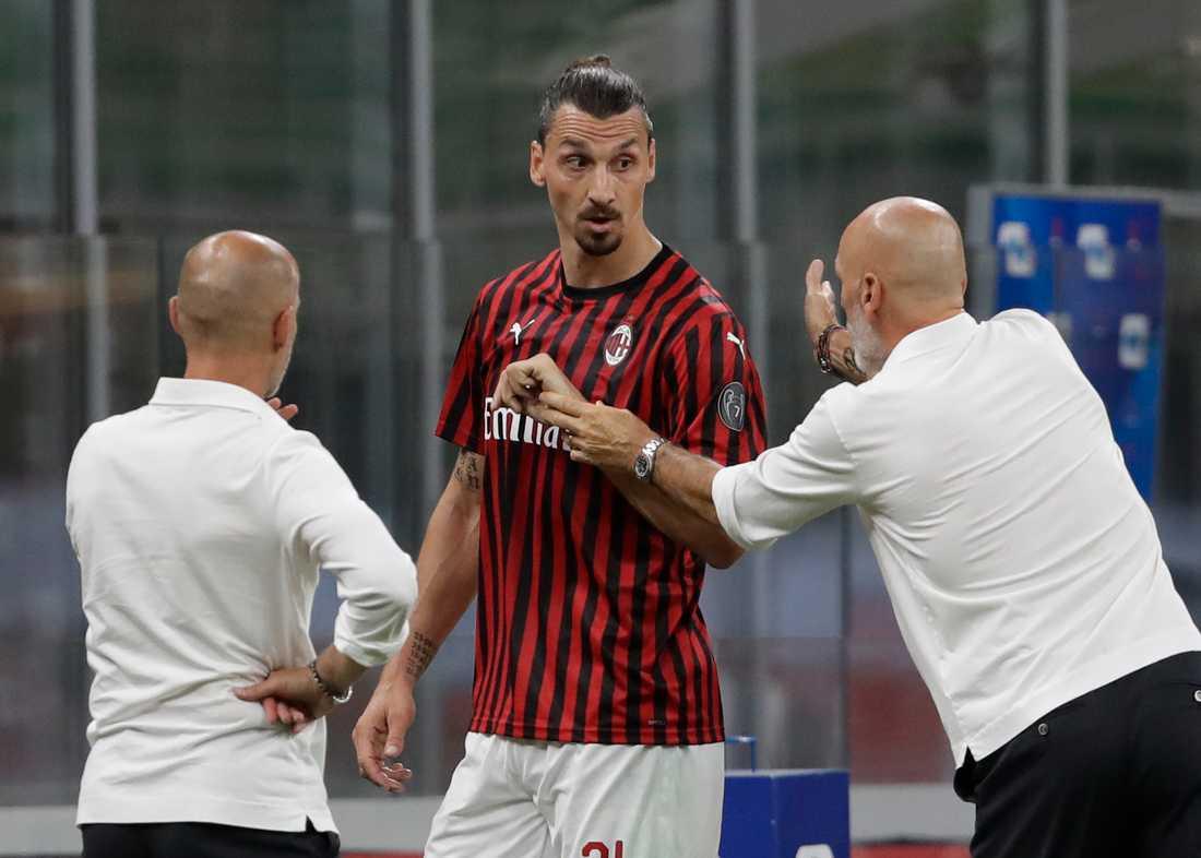 Zlatan blev sur när han byttes ut.