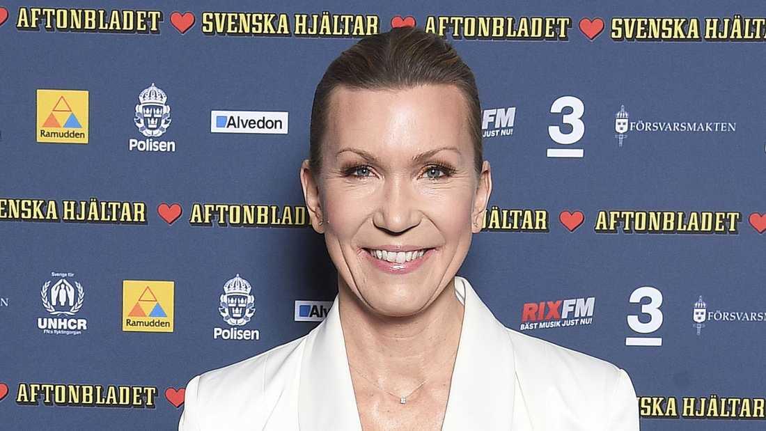 Jenny Alversjö på Svenska hjältar-galan.