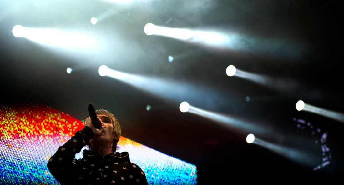 Ian Brown i The Stone Roses spelade på Hultsfredsfestivalen 2012. Arkivbild.