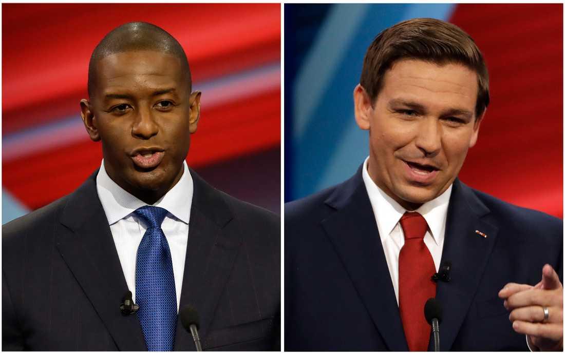 I Florida slåss demokraten Andrew Gillum och republikanen Ron DeSantis om guvernörsposten. Montage