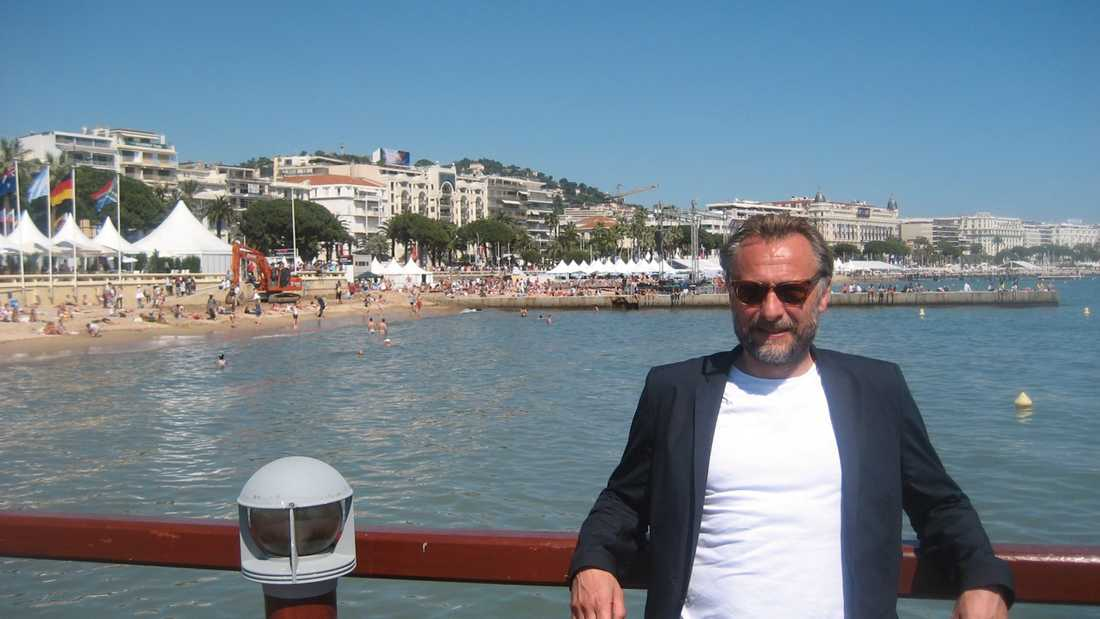 Mötet med Michael Nyqvist i Cannes 2009.