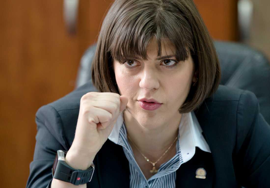 Laura Codruta Kovesi, chef för enheten för korruptionsbekämpning, måste nu lämna sin post. Arkivbild.