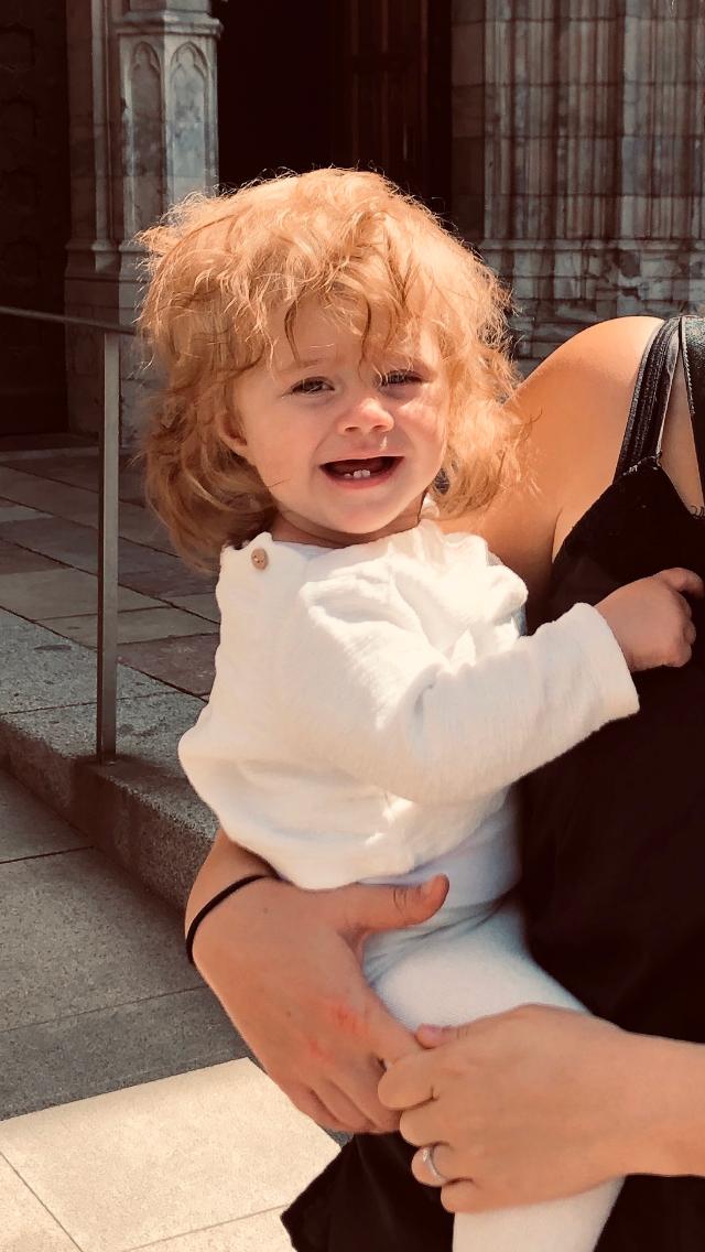 """Malin Cervell från Stockholm: """"Här är vår Nicoline, hon har också rätt bra med hår kan man säga"""". Här är Nicoline nio månader på bilden."""