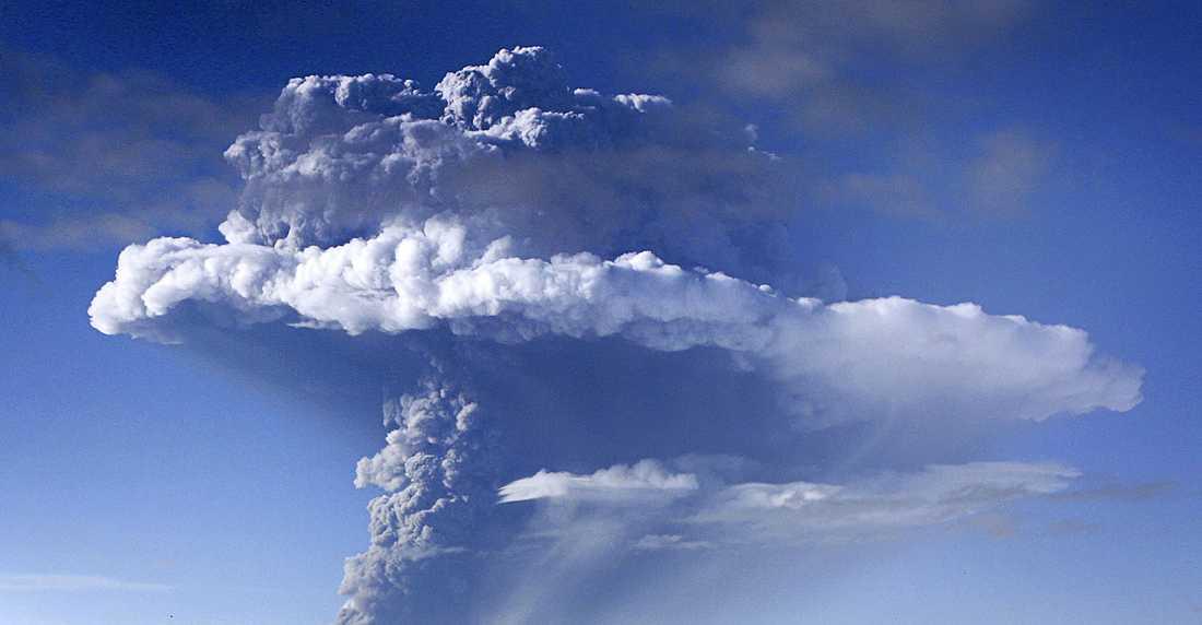Ett moln av aska och rök över Grimsvötn vulkan.