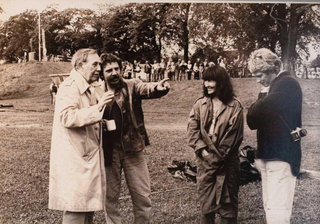 George rydeberg, Janne Loffe Karlsson, Kim Anderzon  och Stig Engström på en odaterad privatbild.