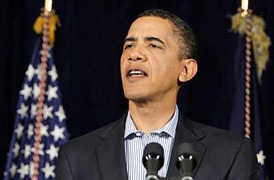 President Barack Obama talade från en amerikansk marinbas på Hawaii.