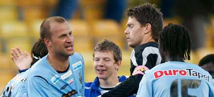 släkten är värst Hasse Berggrens (t.v.) mål fällde hans gamla lag Elfsborg.