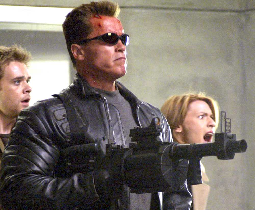 "Arnold Schwarzenegger som ""Terminator""."