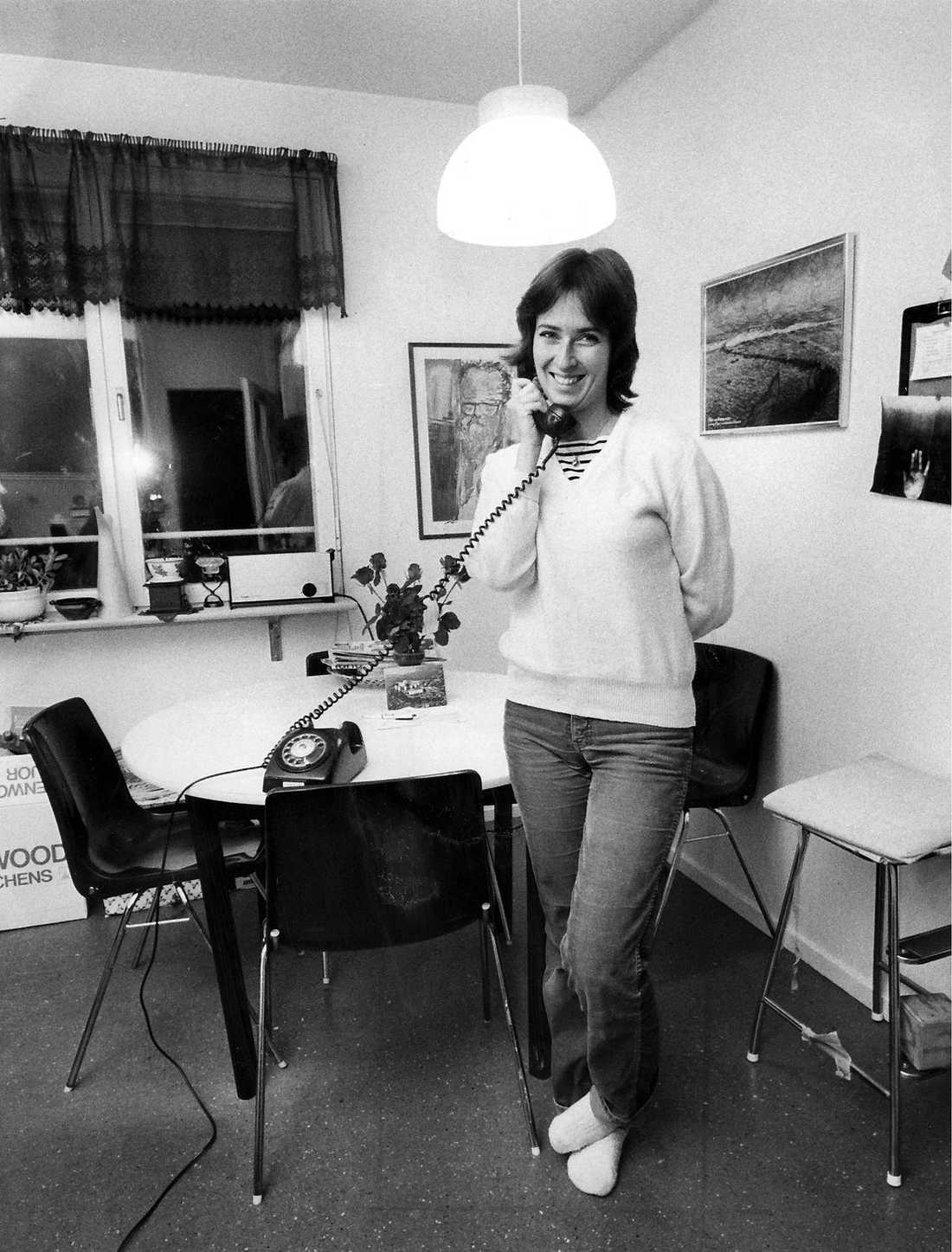 tidigt röd 1982 blev Mona Sahlin den yngsta som valts in i riksdagen, då 25 år gammal.