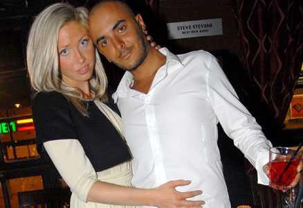 Hard rock Café Angelica och Olivier de Paris på Hard Rock Cafés 22-årsfest på Sveavägen.