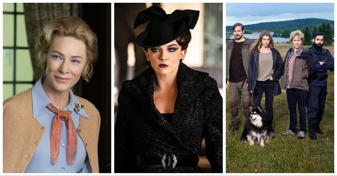 """Mrs America"", ""Penny dreadful: City of Angels"" och ""Rebecka Martinsson""."