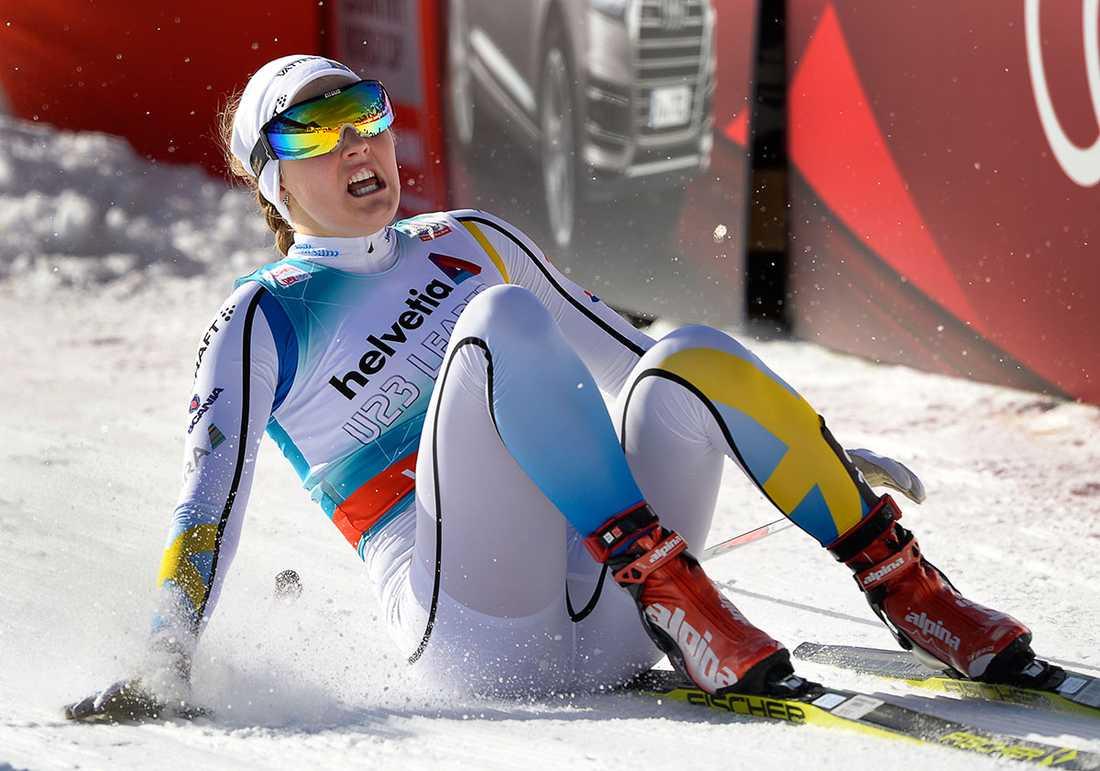 Stina Nilsson brukar inte ligga i topp efter prologen.