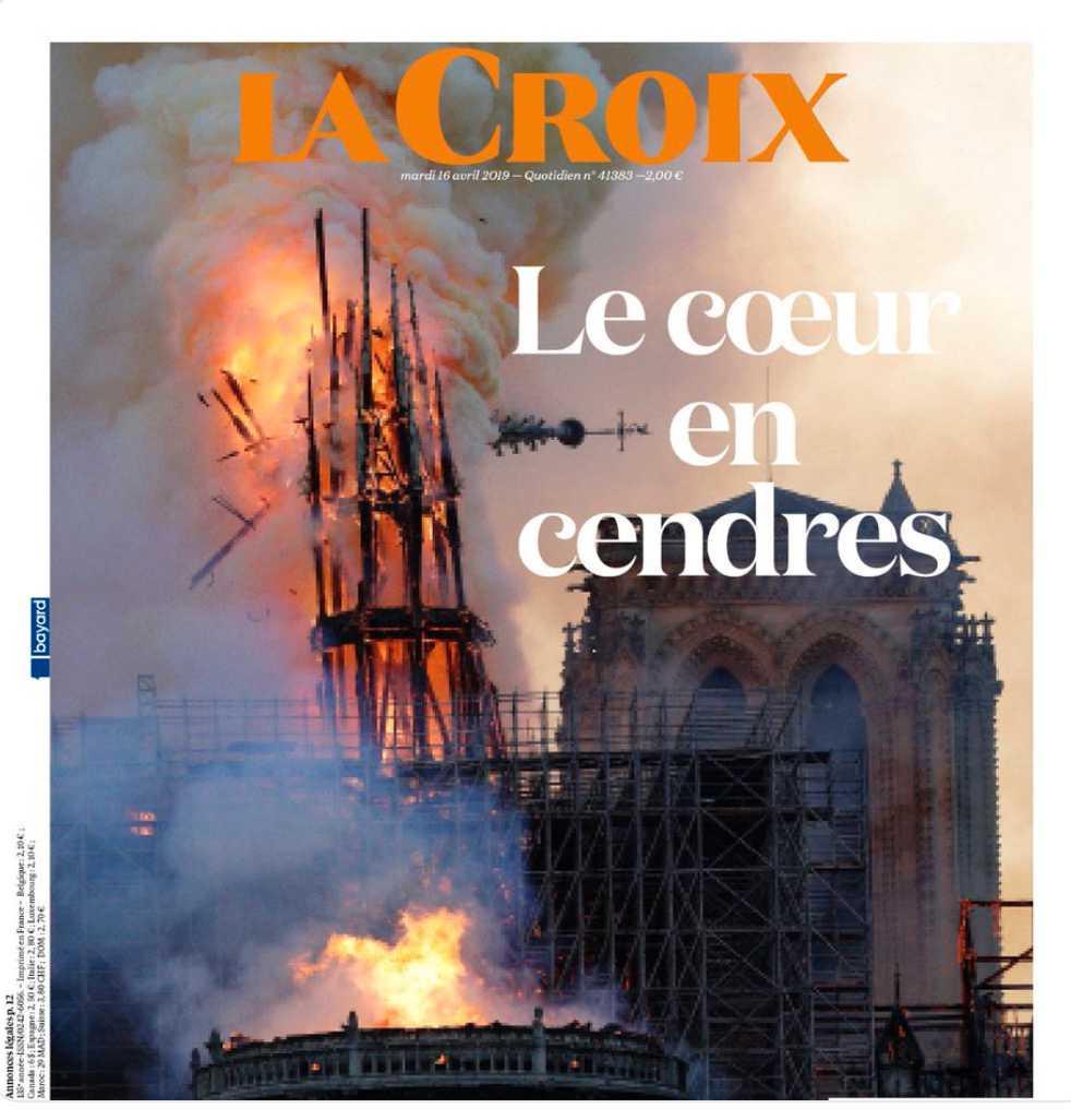 Franska tidningen La Croix på tisdagsmorgonen.