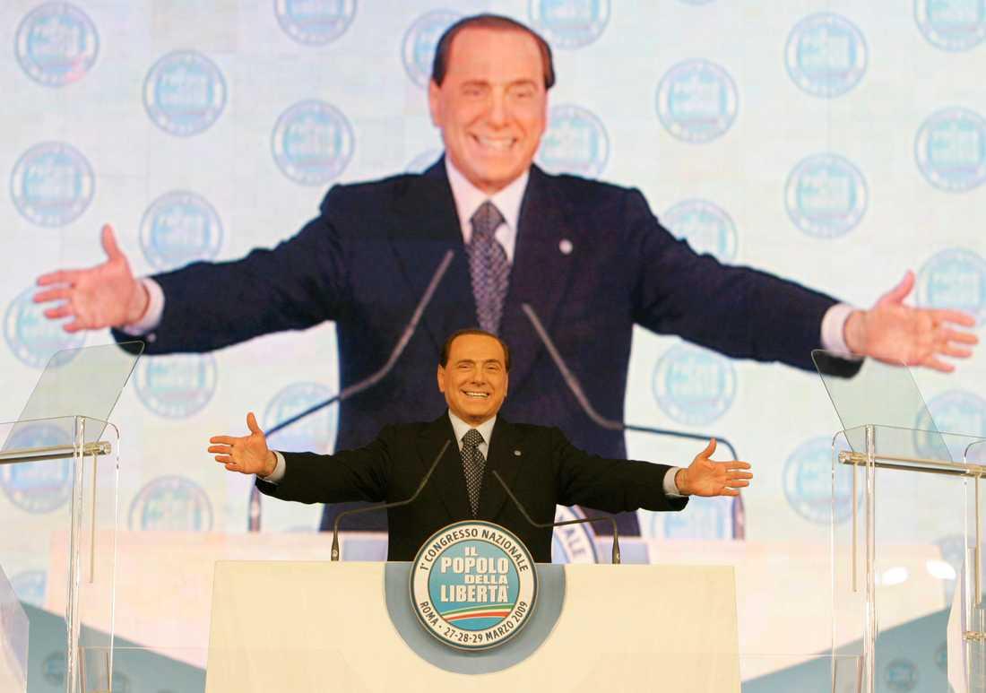 Silvio Berlusconi under ett tal 2009.