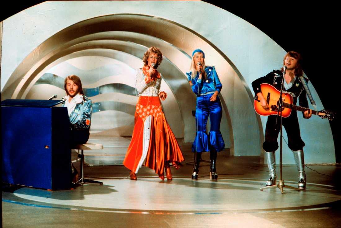 Abba vann Eurovision Song Contest 1974 – utan hjälp från britterna. Arkivbild.
