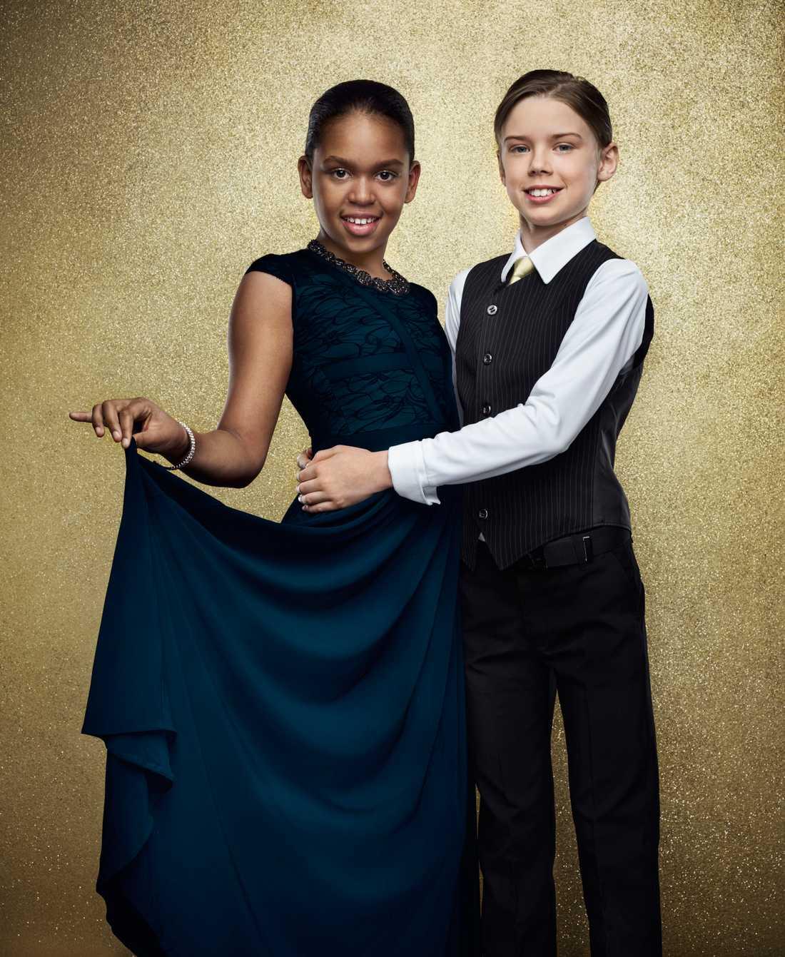 Jane Nwapa, 12 år. Dr Albans dotter och dansar med Oscar Malmcrona.