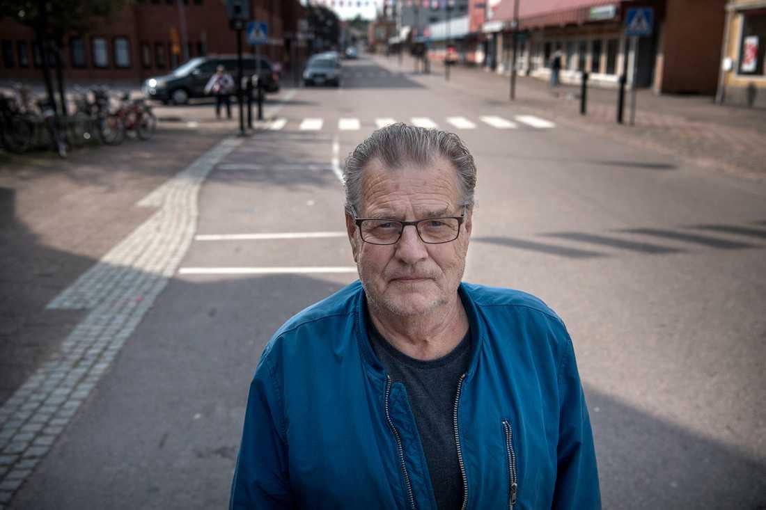 """Torgeir Pettersen (S), politiskt aktiv i Filipstad. Han drev tidigare Mathjälpen då han delade ut matkassar till utsatta familjer. """"Hälsan sätter stop för mig att fortsätta driva det, och det fanns ingen som kunde ta över""""."""