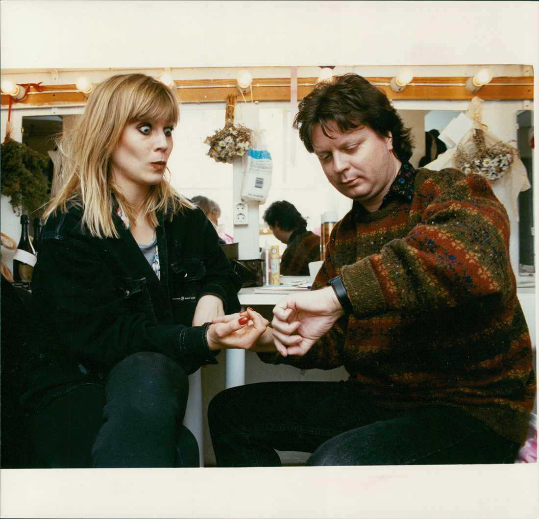Josefin Nilsson träffar Aftonbladets Jan-Olov Andersson 1990.