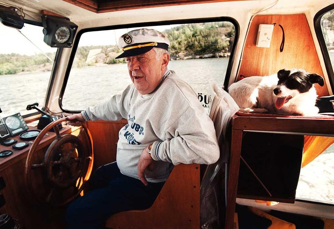 SJÖVANA  Bert-Åke Varg gillar båtar även utanför skådespeleriet.