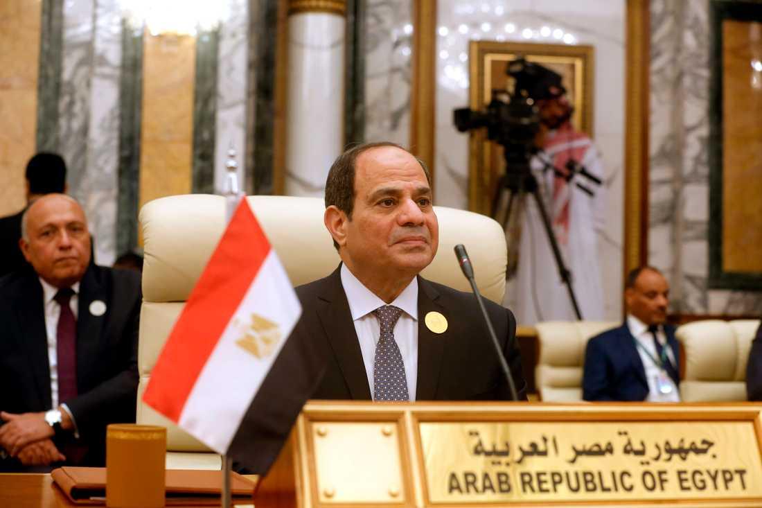Egyptens president Abd al-Fattah al-Sisi. Arkivbild.