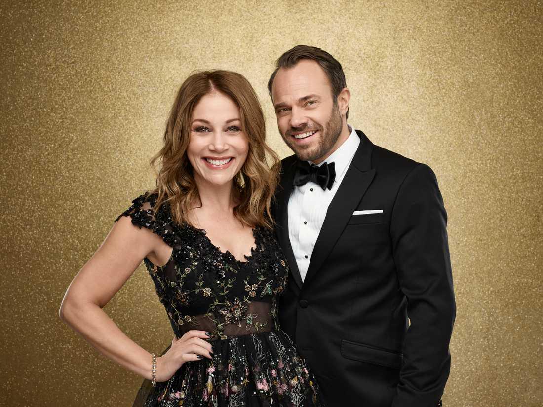 """Tilde de Paula Eby och David Hellenius är programledare för """"Let's dance"""" 2017 i TV4."""