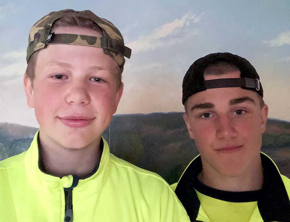 Melvin Fast och Albin Emanuelsson räddade en pojke från att drunkna vid Tången i Strömstad.