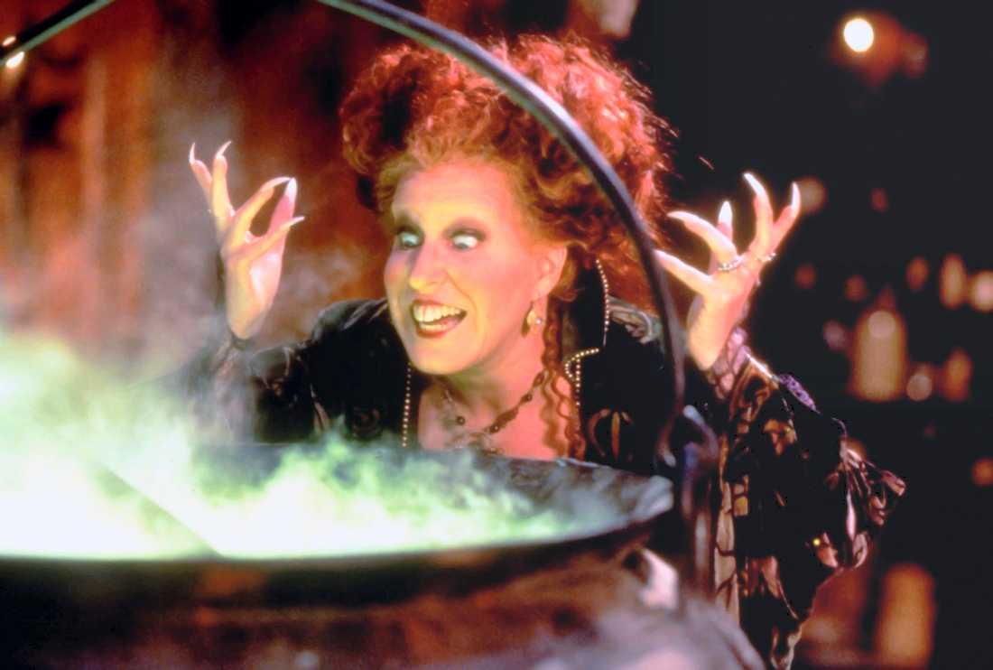 "Bette Midler spelade huvudrollen i ""Hocus pocus"": Pressbild."
