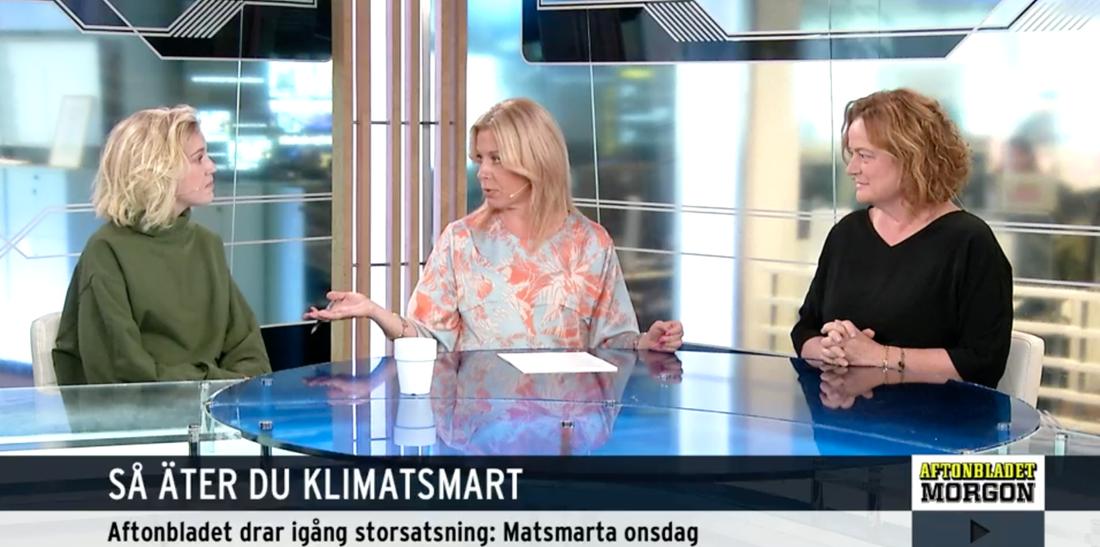 Victoria Voss Bignet, 30, doktorand i hälsosam och hållbar mat vid Stockholms universitet, berättar om hållbar mat i Aftonbladet morgon.