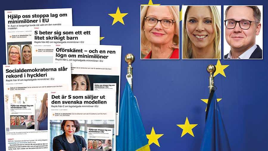 Ursula von der Leyen har hittills gett oklara besked om minimilön ska bli lag eller ej. Så i stället för att träta, låt oss på bred front tillsammans agera så att ett kommande initiativ kring minimilöner från EU-kommissionen inte på något sätt äventyrar den svenska modellen. Slutreplik från S i EU.
