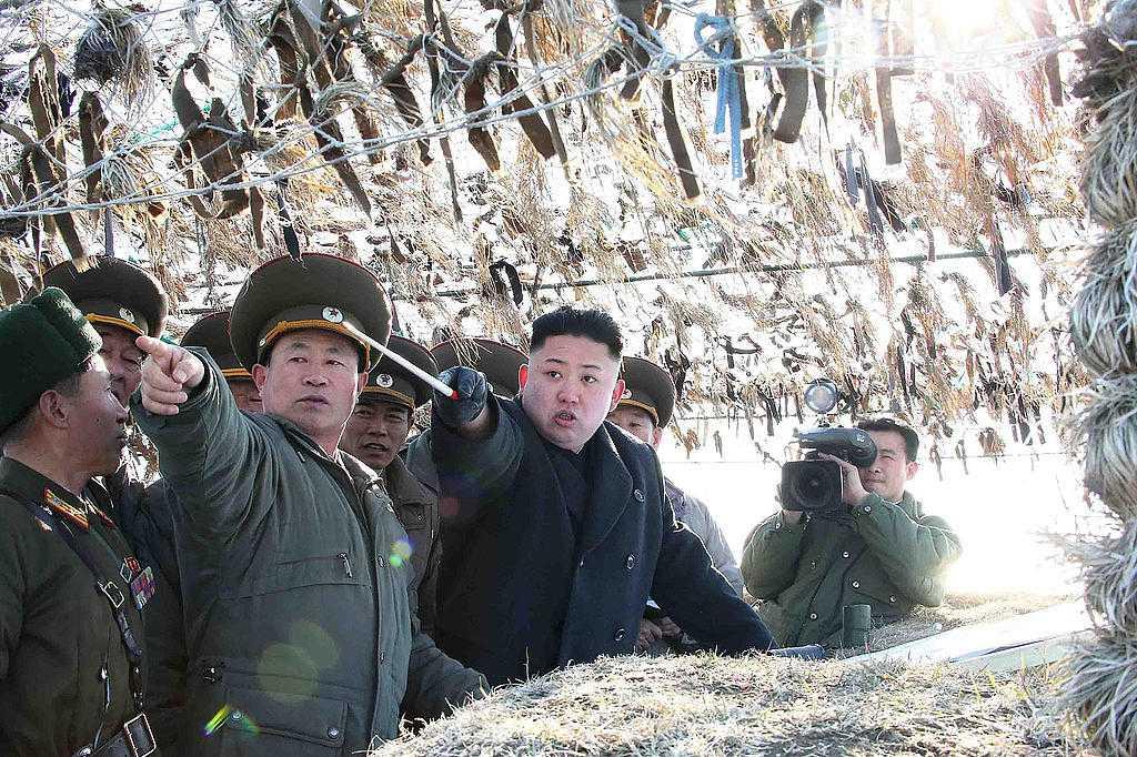 Kim Jong-un enligt KCNA.