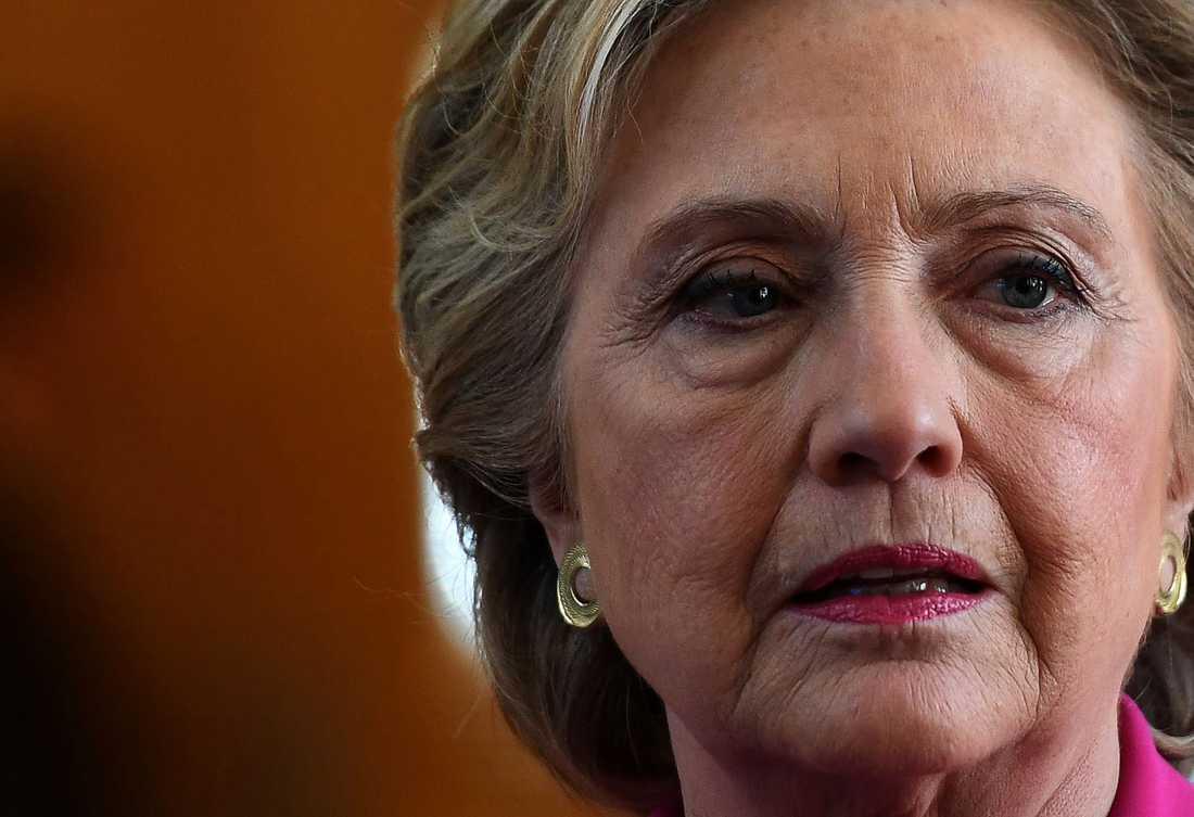 Hillary Clinton på valmöte i Winterville, North Carolina under torsdagen.