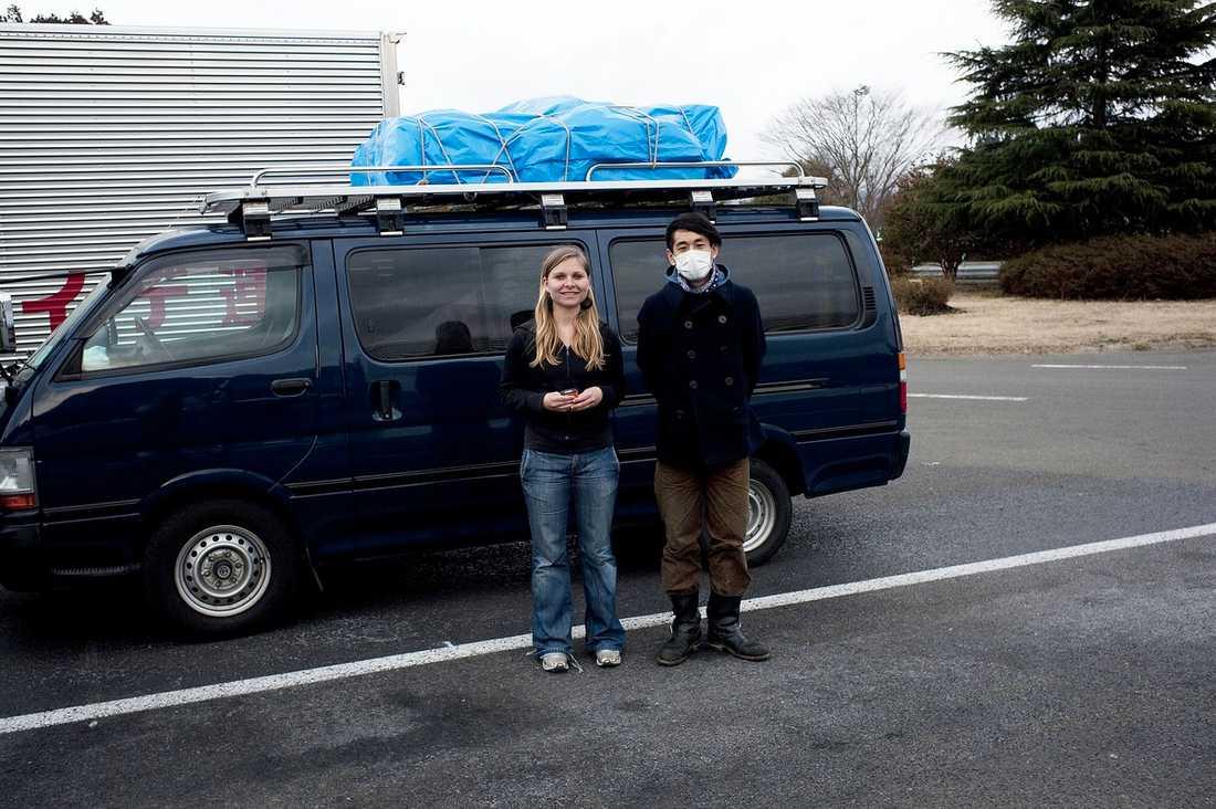 Aftonbladets reporter Elin Lindqvist och fotograf Yoshi Fukuda är på plats i Japan.
