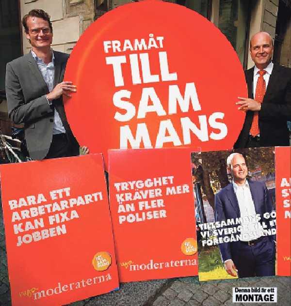 Blått blev rött Per Schlingmann hyllar jämlikheten i en artikel. Nu slutar han hos moderaterna och Reinfeldt. Då kanske s-ledaren Stefen Löfven kan anställa den förre M-partisekreteraren. OBS! Bilden är ett montage.