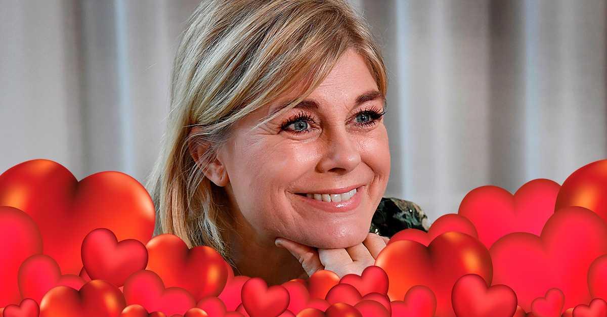 """Pernilla Wahlgrens känslor för nya dejten: """"Känner mig kär i kärleken"""""""