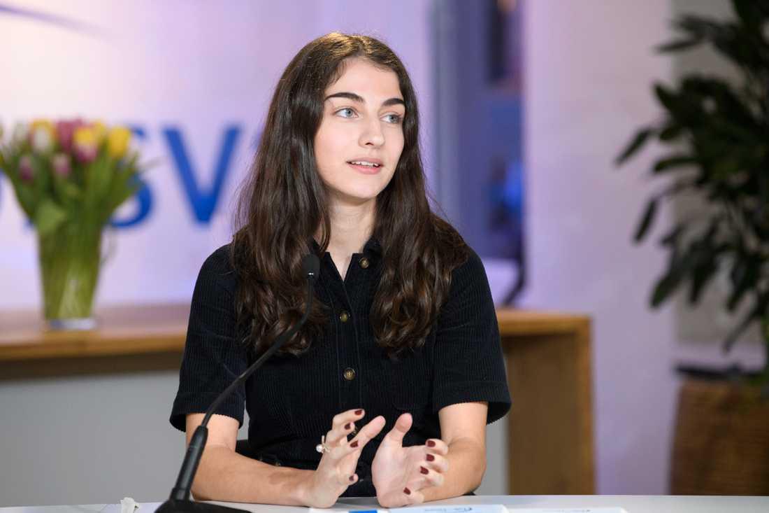 Romina Pourmokhtari är ordförande i Liberala ungdomsförbundet (Luf). Arkivbild.