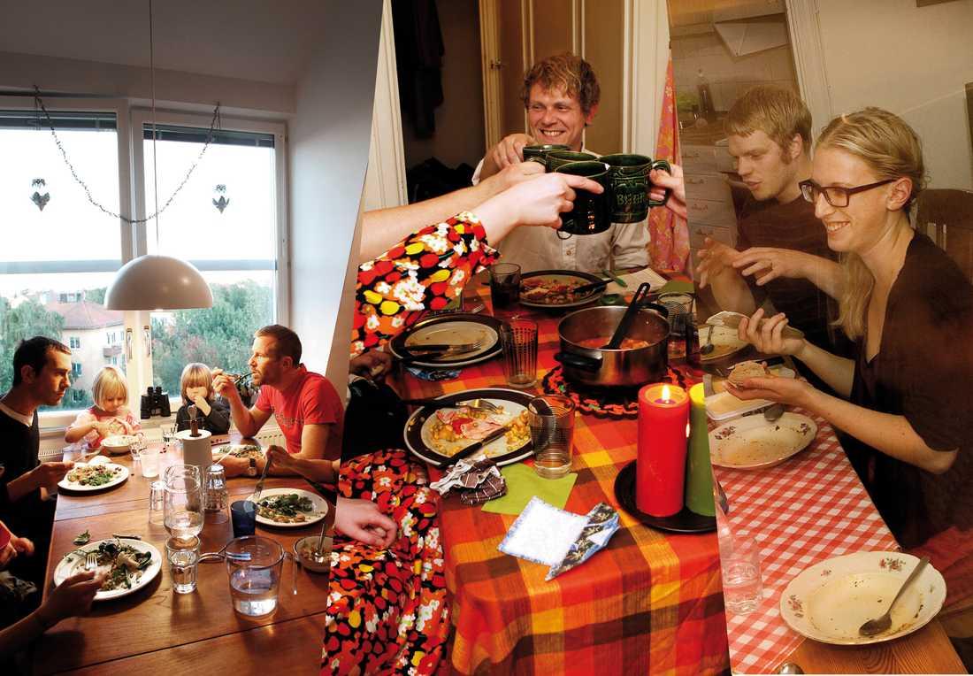 Grannarna, retroälskarna och studenterna - vi hälsar på hos tre matlag.