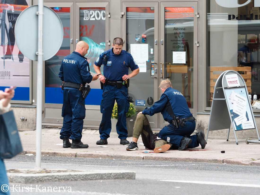 Den misstänkta gärningsmannen omhändertogs av den finska polisen
