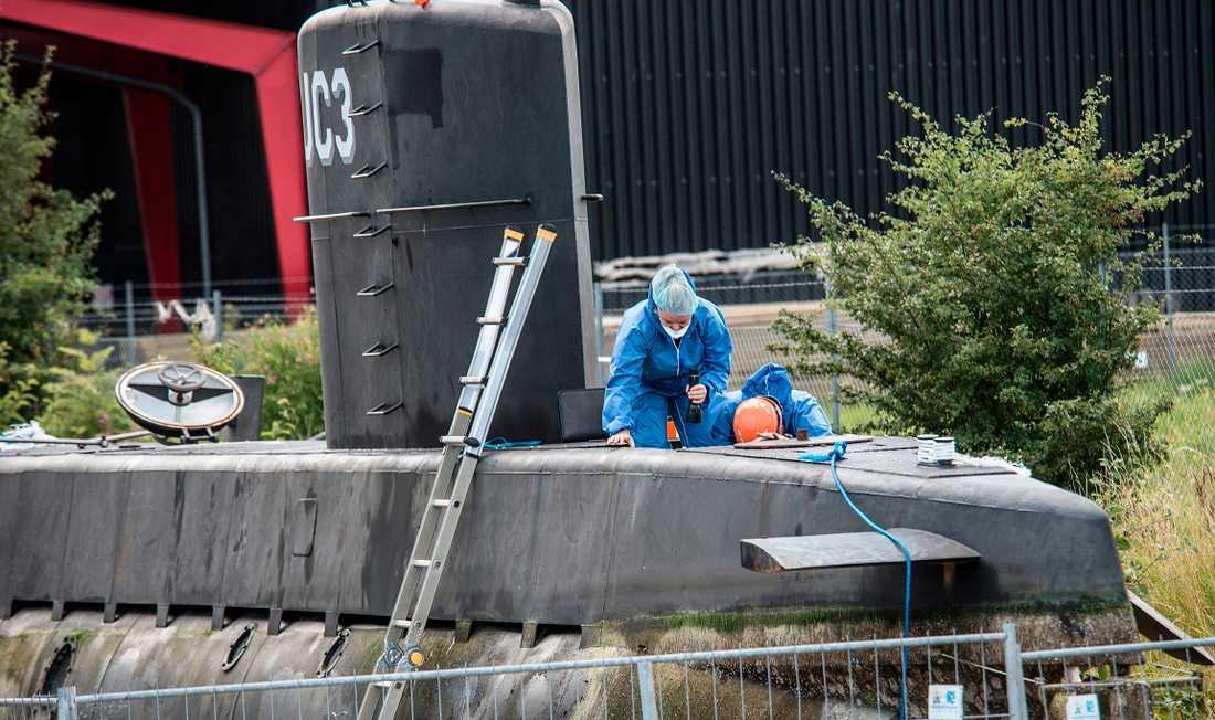 Tekniska undersökningen på UC3 Nutilus efter mordet på svenska journalisten Kim Wall.