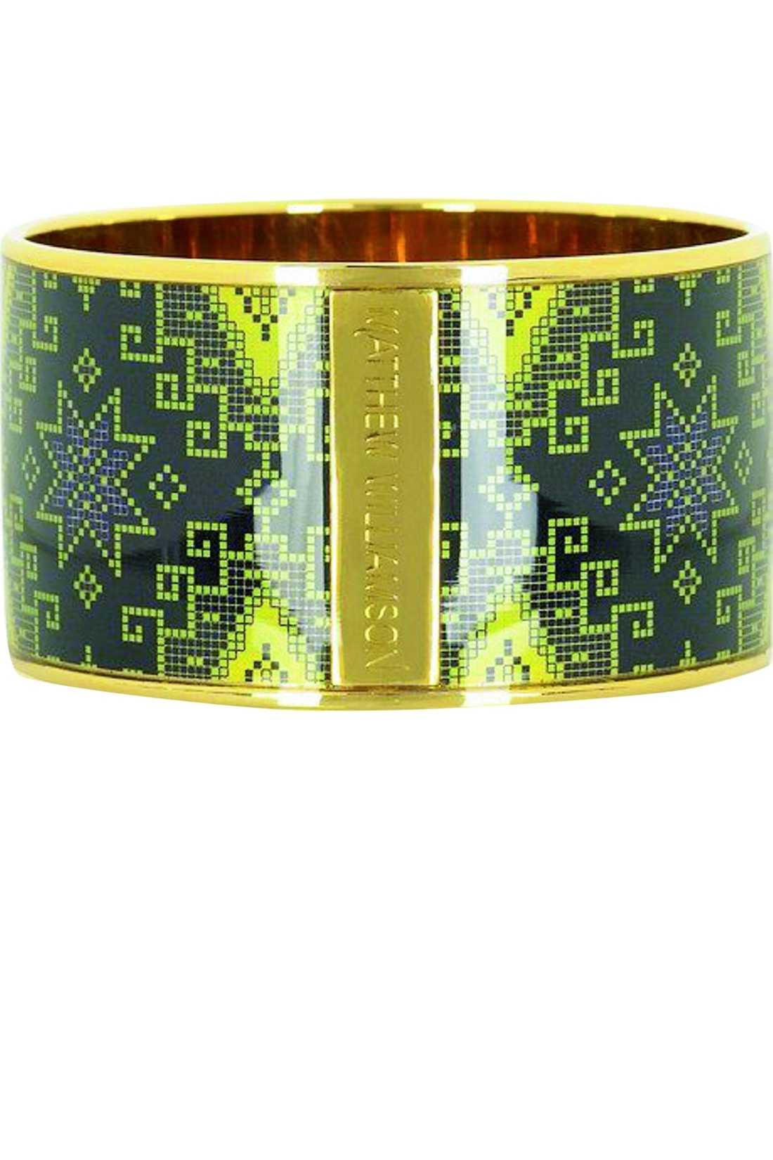 Armband med inkamönster får fashion-istahjärtan att banka fortare. Det här från Matthew Williamson kostar 2 140 kronor på www.net-a-porter.com