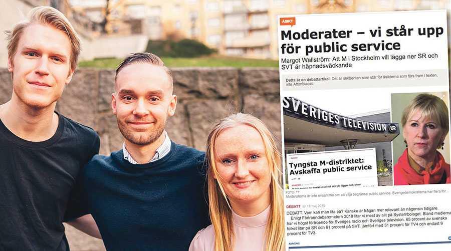 Att avskaffa public service stärker samhällets skydd mot politiker som inte respekterar den fria, oberoende median, skriver Carl Nordblom, Joanna Lewerentz och Oliver Rykatkin, Muf Stockholm.