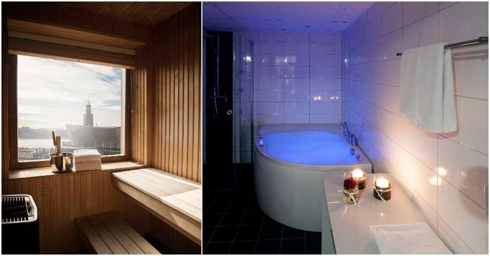 Vad sägs om egen bastu, eget spa och lysande utsikt?